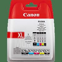 CANON PGI-570PGBK + CLI-571 Tintenpatrone Multipack mehrfarbig (0318C004AA)
