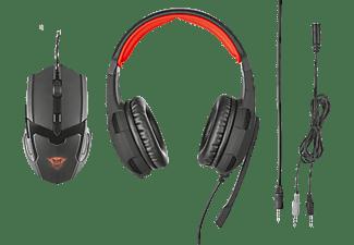 TRUST 21472 GXT 784, Over-ear Gaming Headset Schwarz/Rot