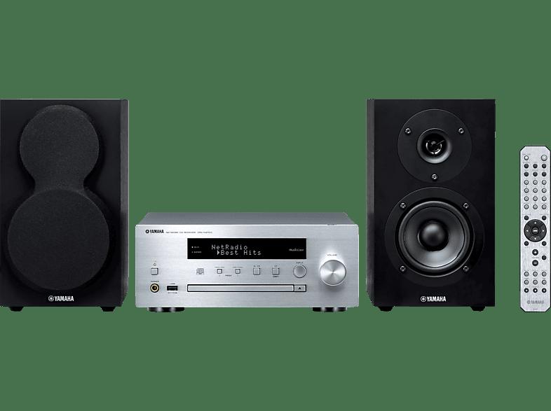 YAMAHA MCR-N470D Kompaktanlage (iPod Steuerung, CD, CD-R, CD-RW, Silber/Schwarz)