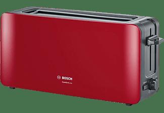 BOSCH TAT6A004 ComfortLine Toaster Rot/Anthrazit (1090 Watt, Schlitze: 1)