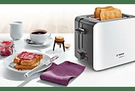 BOSCH TAT6A111 ComfortLine Toaster Weiß/Dunkelgrau (1090 Watt, Schlitze: 2)