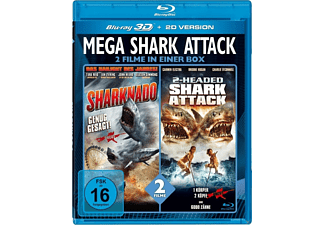 Mega Shark Attack - 2 Filme in einer Box - (3D Blu-ray)