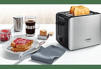 BOSCH TAT6A913 ComfortLine Toaster Edelstahl/Schwarz (1090 Watt, Schlitze: 2)