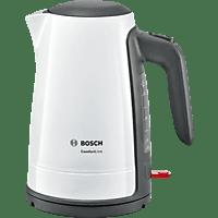 BOSCH TWK6A011 ComfortLine Wasserkocher, Weiß/Dunkelgrau