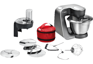 BOSCH MUM59N26DE MUM5 HomeProfessoinal Küchenmaschine Mystic Schwarz (Rührschüsselkapazität: 3,9 Liter, 1000 Watt)