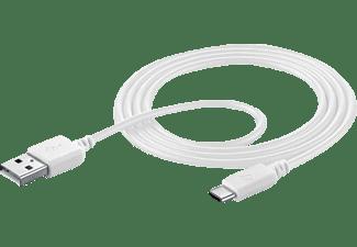 CELLULAR LINE USB Typ-A - USB Typ-C, Verbindungskabel, Weiß