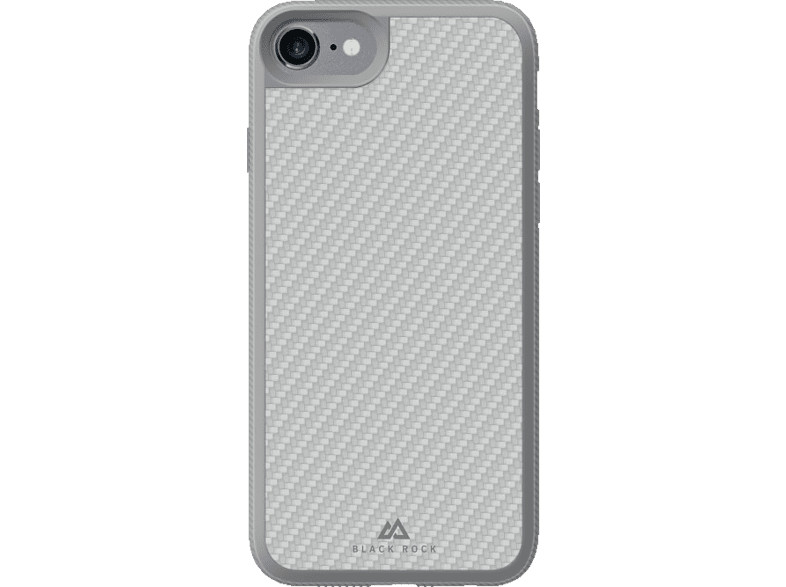 BLACK ROCK Material , Backcover, Apple, iPhone 7, Glasfaser/Polycarbonat/Thermoplastisches Polyurethan, Silber