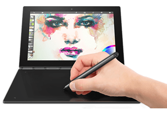 LENOVO Yoga Book, 2-in1 Tablet mit 10,1 Zoll Display, Atom™ x5 Prozessor, 4 GB RAM, 64 GB eMMC, Intel® HD-Grafik 400, Schwarz