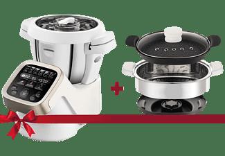 KRUPS HP5031.XMAS Prep&Cook, Küchenmaschine mit Kochfunktion,  Rührschüssel-Kapazität: 4.5 Liter, 1550 Watt, Weiß/Grau/Edelstahl
