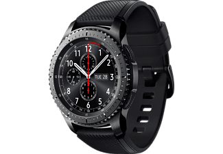 SAMSUNG Gear S3 Frontier Smartwatch Silikon, 22 mm, Korpus: Space Gray, Silikon-Armband: Blue Black