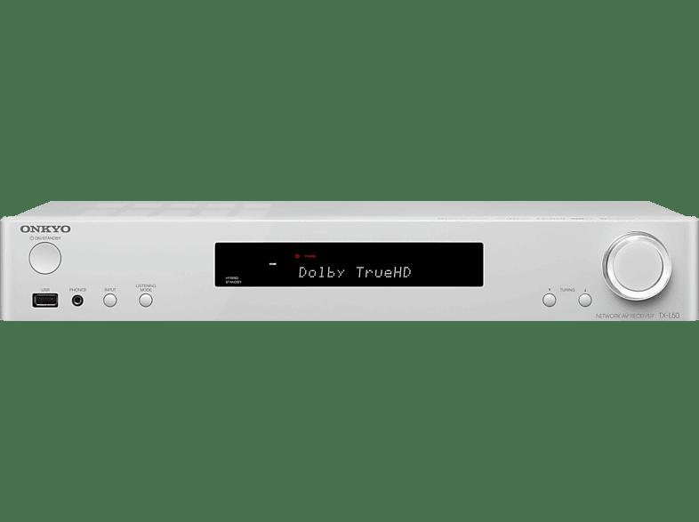 ONKYO TX-L50 AV-Receiver (5.1 Kanäle, 80 Watt pro Kanal, Weiß)