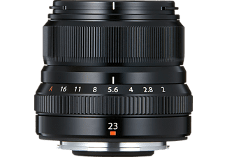 FUJIFILM 16523169 XF 23 mm - 23 mm f/2 WR (Objektiv für Fuji X-Mount, Schwarz)
