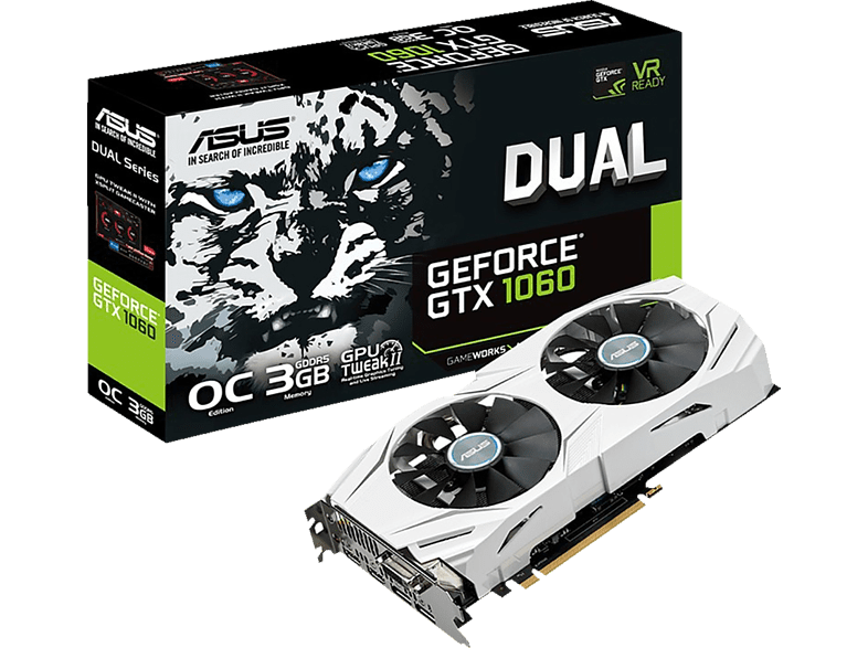 ASUS GeForce® GTX 1060 Dual OC 3GB (90YV09X3-M0NA00) (NVIDIA, Grafikkarte)