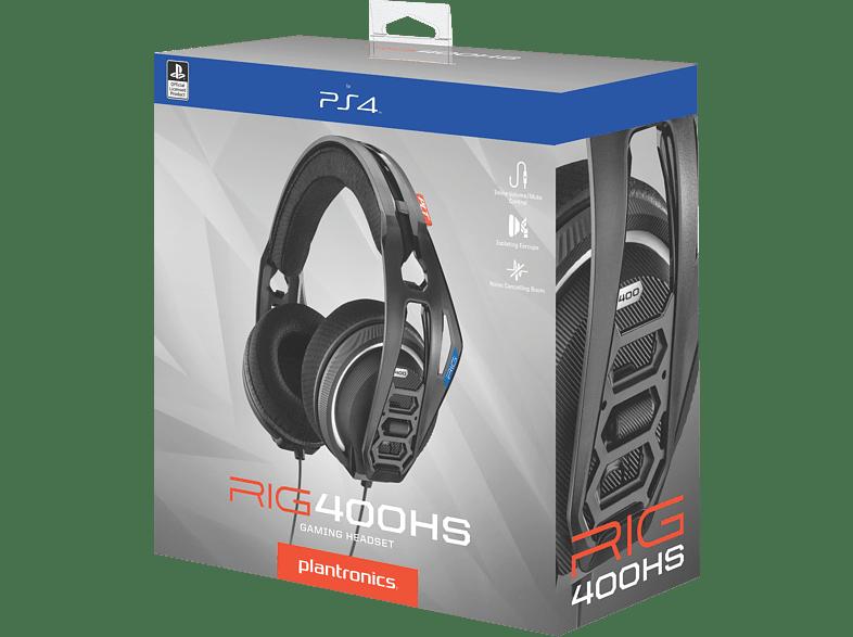 PLANTRONICS RIG 400HS Offizielles Playstation 4 Lizenziertes Gaming Headset, Schwarz