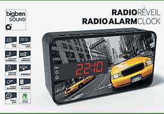 BIGBEN RR15 - New York Taxi Radio-Wecker, FM, Mehrfarbig