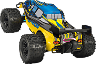 JAMARA 053365 Myron 1:10 BL 4WD LED LiPo 2.4 GHz Monstertruck, Gelb/Blau