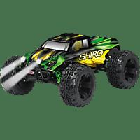 JAMARA Shiro 1:10 EP 4WD LED Lipo 2.4 GHz Monstertruck, Grün/Gelb