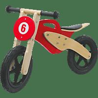 JAMARA KIDS Laufrad Holz Moto rot Laufrad, Rot/Braun