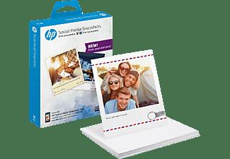 Papel fotográfico - HP Social Media SNAPSHOT, Ahesivo, 25 hojas, W2G60A