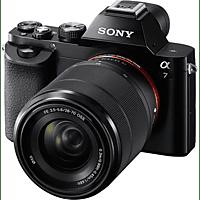 SONY Alpha 7 Kit (ILCE-7K)  Systemkamera 24.3 Megapixel mit Objektiv 28-70 mm f/5.6, 7,6 cm Display, WLAN