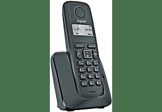 Teléfono - Gigaset A116, 50 registros, Identificador de llamadas, Negro