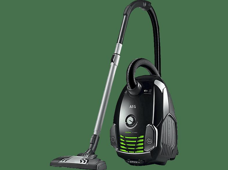 AEG VX6 Öko X Force VX6-1-Öko (mit Beutel, Hygiene Filter™ E12, Schwarz)