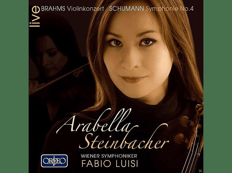 Arabella Steinbacher, Wiener Symphoniker - Brahms - Schumann: Violinkonzert - Symphonie No. 4 [CD]