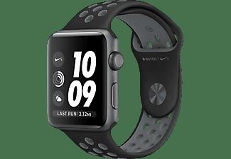 APPLE Watch Series 2 Nike+ Smart Watch Aluminium Sportband, 42 mm, Space Grau/Schwarz/Grau