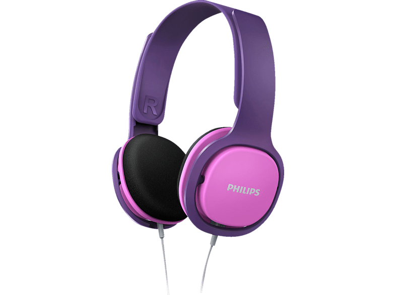 PHILIPS SHK2000PK/00, On-ear Kopfhörer  Pink/lila