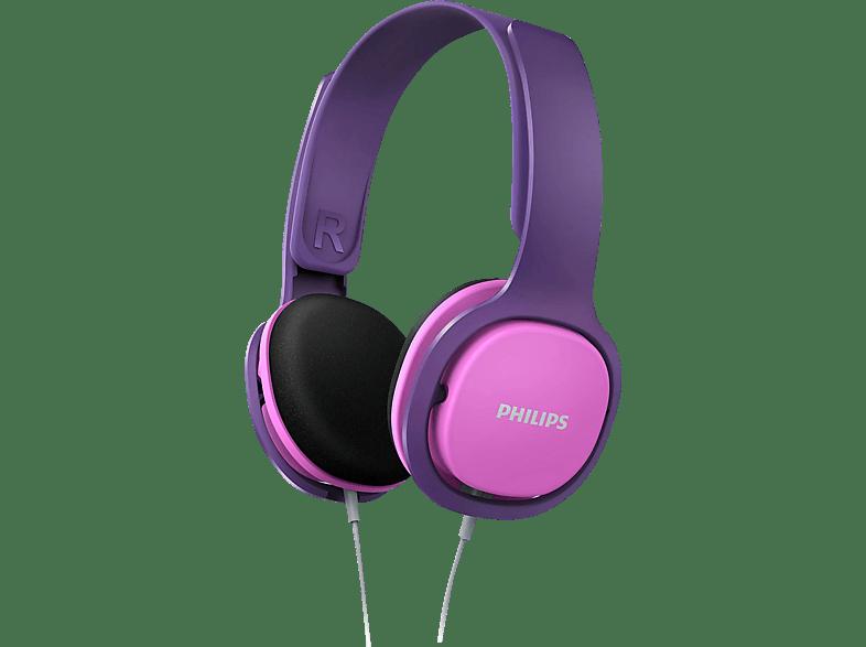 PHILIPS SHK2000PK/00, On-ear Kopfhörer Pink/lila
