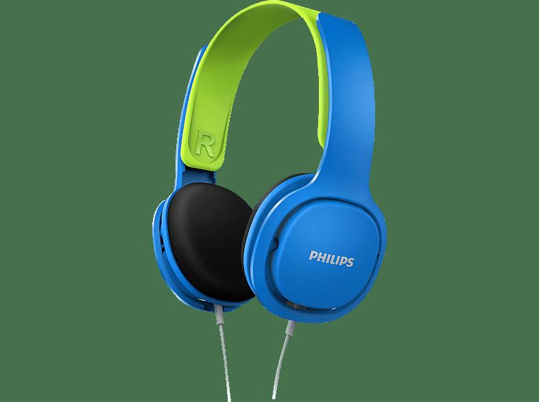 PHILIPS SHK2000BL/00, On-ear Kopfhörer Blau/Grün