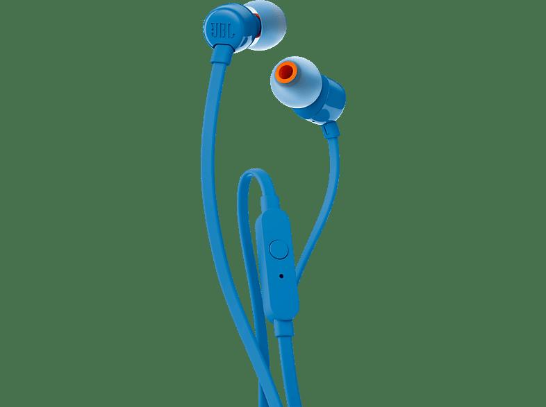 JBL T110, In-ear Kopfhörer  Blau