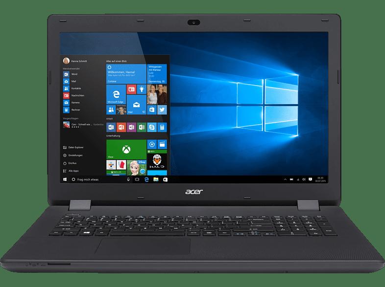 ACER Aspire ES 17 ( ES1-732-P5SK), Notebook mit 17.3 Zoll Display, Pentium® Prozessor, 1 TB HDD, HD-Grafik 505, Schwarz