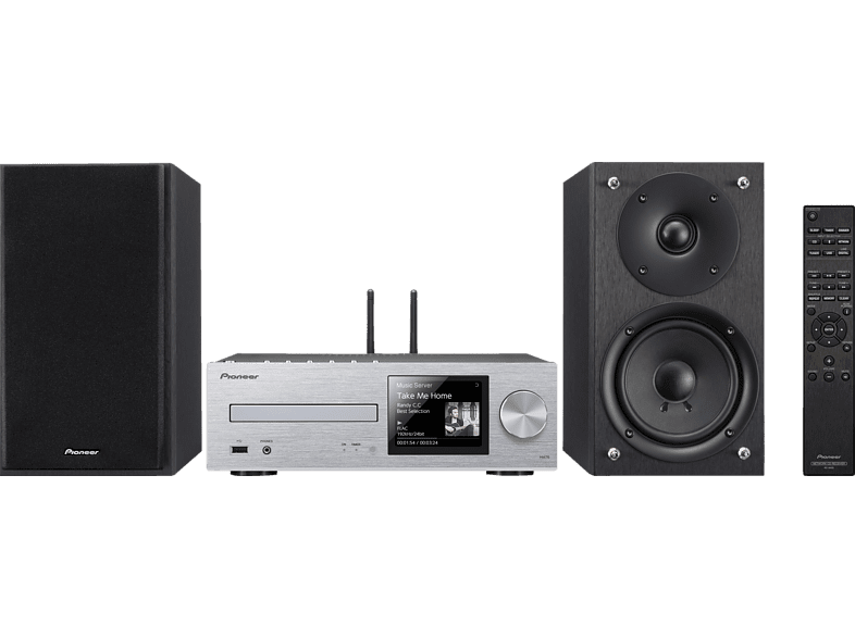 PIONEER X-HM76-S Kompaktanlage (CD, USB, Streaming, Silber)