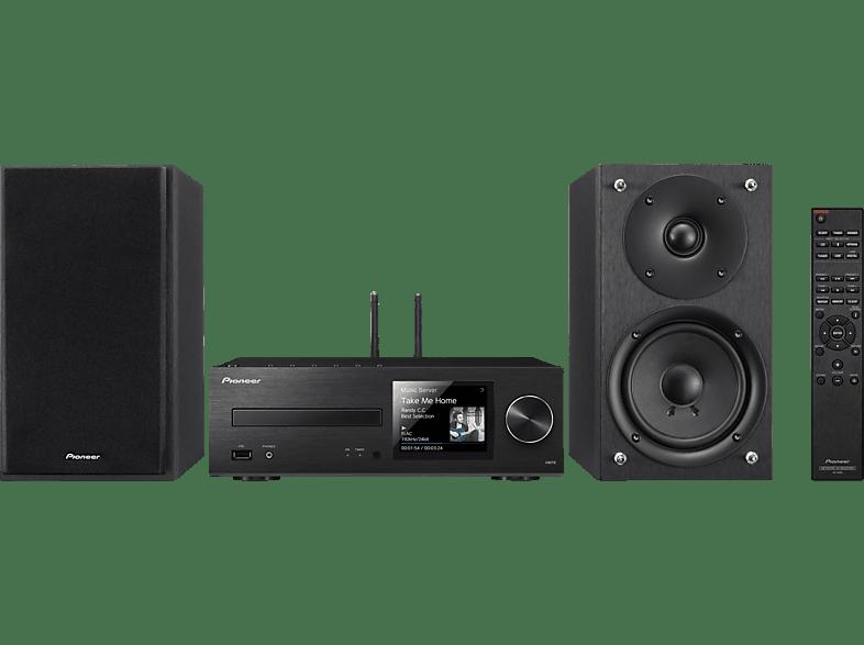 PIONEER X-HM76-B Kompaktanlage (CD, USB, Streaming, Schwarz)