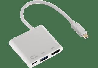 HAMA 3in1-USB-C Multiport-Adapter, Weiß