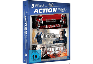 3 Filme Action Movie Night - Coriolanus / McCarnick / Blood of Redemption Blu-ray