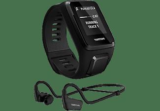 TOMTOM Sporthorloge Spark 3 Cardio + Music Zwart Small + Bluetooth Sports-oortjes
