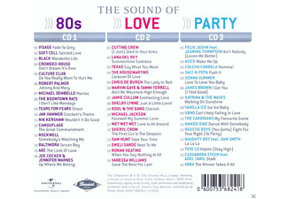VARIOUS - The Sound Of 80s - Love - Party  - (CD)