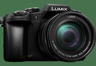 PANASONIC Lumix DMC-G81MEG Systemkamera mit Objektiv 12-60 mm f/5.6, 7,5 cm Display, WLAN