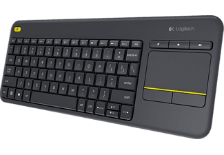 LOGITECH Wireless Touch Keyboard K400 Plus Black - (920-007145)