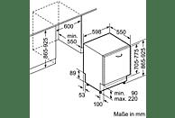 BOSCH SBV68TX06E Geschirrspüler (vollintegrierbar, 598 mm, A+++, 42 dB (A))