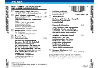Heinz Erhardt - Noch'n Gedicht Und Andere Ungereimtheiten  - (CD)