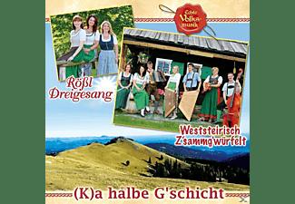 Rößl Dreigesang & Weststeirisch Z'sammg'würfelt - (K)a hålbe G'schicht  - (CD)