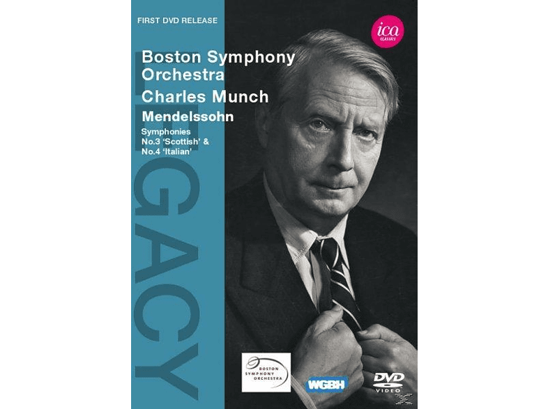 Charles/boston So Munch - Sinfonien 3+4 [DVD]