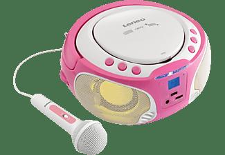 LENCO SCD-650 inkl. Mikrofon Radiorecorder, Pink