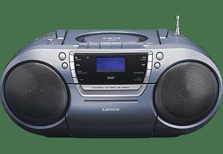LENCO SCD-680 DAB+ mit Kassettendeck Radiorecorder, Grau