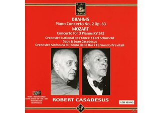 CASADESUS & ORCH.NATIONAL DE FRANCE - Brahms,Mozart: Klavierkonzert/Konzert Für 3 Klaviere  - (CD)