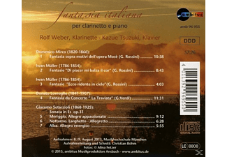 WEBER,ROLF & TSUZUKI,KAZUE - Fantasia Italiana Per Clarinetto E Piano  - (CD)