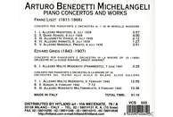 Arturo Benedetti Michelangeli - Piano Concertos And Works [CD]